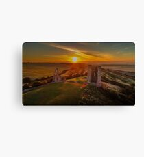 Hadleigh Castle Sunrise 1 Canvas Print
