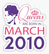 It's My Birthday 8. Made In March 2010. 2010 Gift Ideas. Sticker