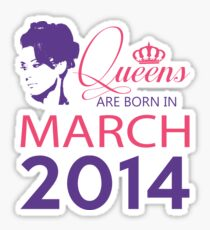 It's My Birthday 4. Made In March 2014. 2014 Gift Ideas. Sticker