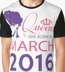 It's My Birthday 2. Made In March 2016. 2016 Gift Ideas. Graphic T-Shirt