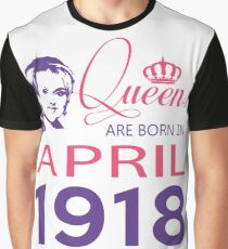 It's My Birthday 100. Made In April 1918. 1918 Gift Ideas. Graphic T-Shirt
