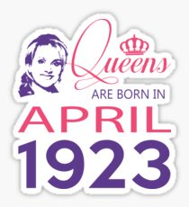 It's My Birthday 95. Made In April 1923. 1923 Gift Ideas. Sticker