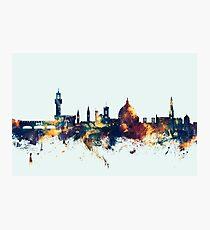 Lámina fotográfica Horizonte de Florencia Italia