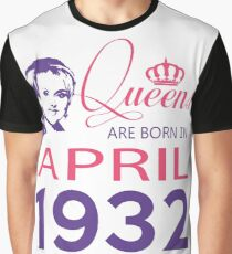 It's My Birthday 86. Made In April 1932. 1932 Gift Ideas. Graphic T-Shirt