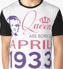 It's My Birthday 85. Made In April 1933. 1933 Gift Ideas. Graphic T-Shirt