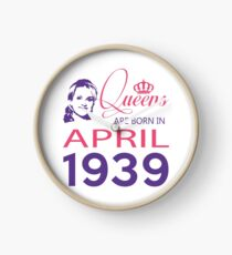 It's My Birthday 79. Made In April 1939. 1939 Gift Ideas. Clock