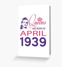It's My Birthday 79. Made In April 1939. 1939 Gift Ideas. Greeting Card