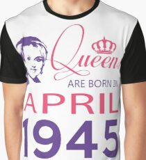 It's My Birthday 73. Made In April 1945. 1945 Gift Ideas. Graphic T-Shirt