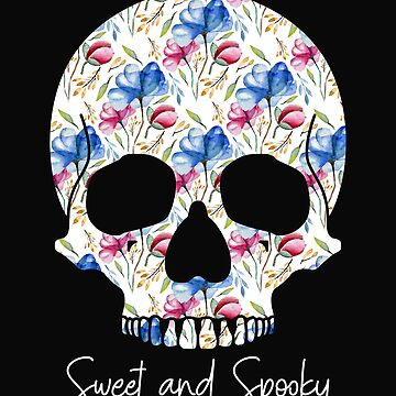 Halloween Skull Crazy Sweet and Spooky by IvonDesign