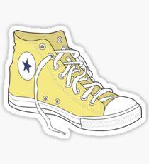 Retro Yellow Popular Shoe Sticker
