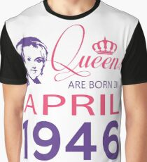 It's My Birthday 72. Made In April 1946. 1946 Gift Ideas. Graphic T-Shirt