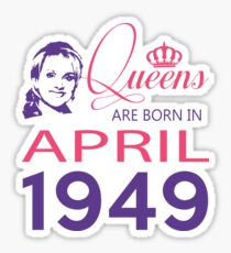 It's My Birthday 69. Made In April 1949. 1949 Gift Ideas. Sticker