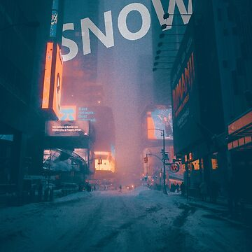 Snow Synth Neon City by EliaCoan