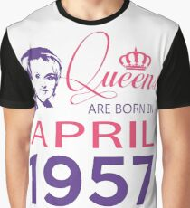 It's My Birthday 61. Made In April 1957. 1957 Gift Ideas. Graphic T-Shirt