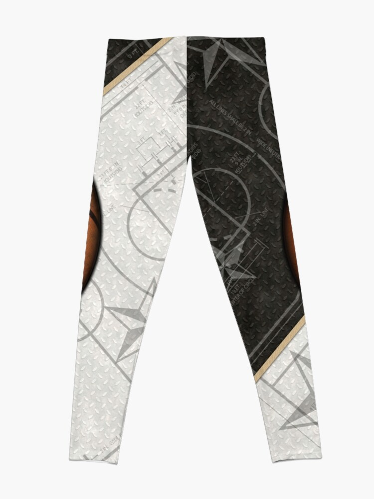 Alternate view of Basketball Stars and Court Team Sports Design Leggings