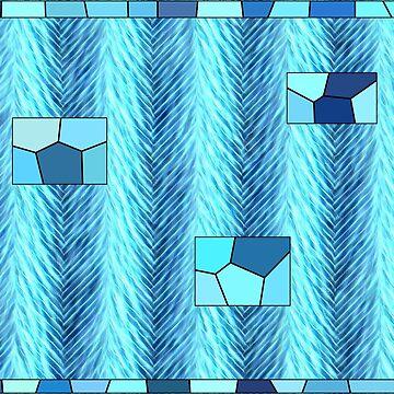Ediemagic Blue Fluffytweed with Mosaics by Ediemagic