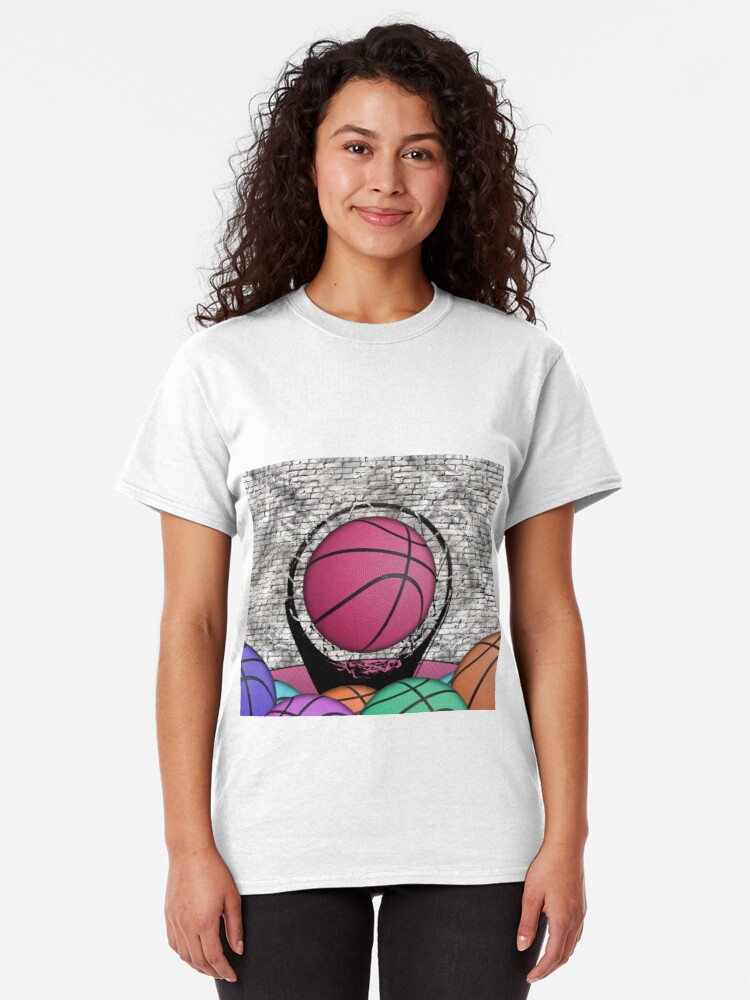Alternate view of Colorful Basketballs Urban Grunge Hoop Classic T-Shirt