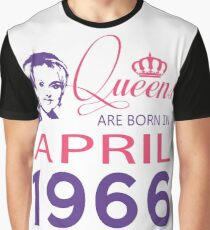 It's My Birthday 52. Made In April 1966. 1966 Gift Ideas. Graphic T-Shirt