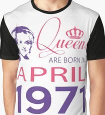 It's My Birthday 47. Made In April 1971. 1971 Gift Ideas. Graphic T-Shirt