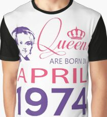 It's My Birthday 44. Made In April 1974. 1974 Gift Ideas. Graphic T-Shirt
