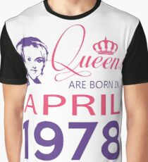It's My Birthday 40. Made In April 1978. 1978 Gift Ideas. Graphic T-Shirt