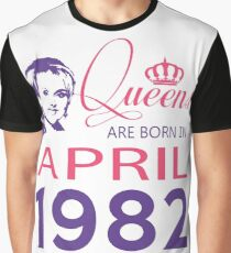 It's My Birthday 36. Made In April 1982. 1982 Gift Ideas. Graphic T-Shirt