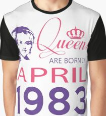 It's My Birthday 35. Made In April 1983. 1983 Gift Ideas. Graphic T-Shirt