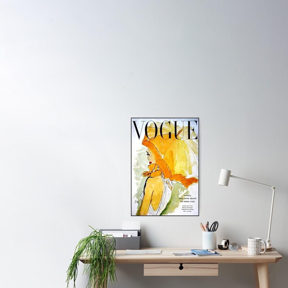 VOGUE : Vintage 1950 Magazine Advertising Print Poster