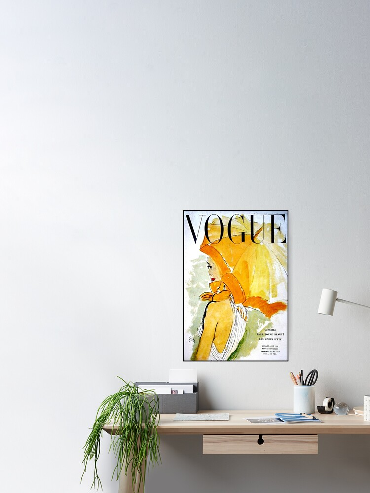 Alternate view of VOGUE : Vintage 1950 Magazine Advertising Print Poster