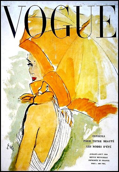 VOGUE : Vintage 1950 Magazine Advertising Print by posterbobs
