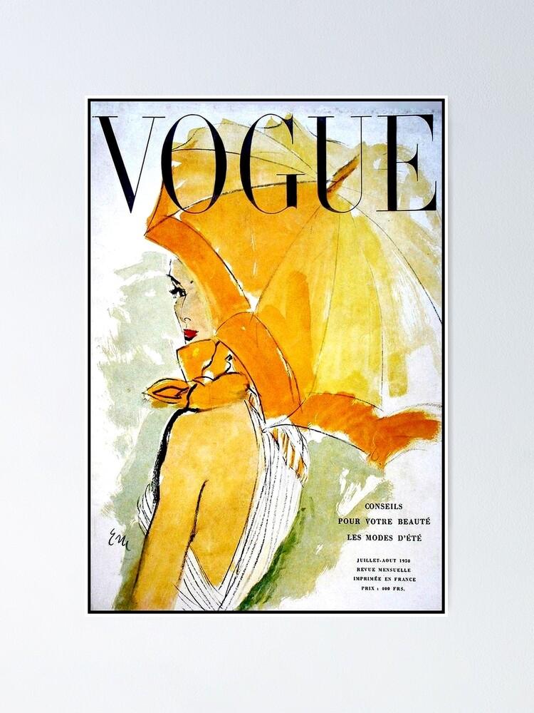 Alternate view of VOGUE : Vintage 1950 Magazine Advertising Print Poster