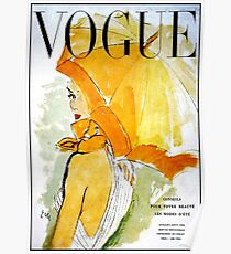 VOGUE: Jahrgang 1950 Werbung Werbung Print Poster