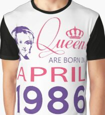It's My Birthday 32. Made In April 1986. 1986 Gift Ideas. Graphic T-Shirt