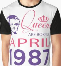 It's My Birthday 31. Made In April 1987. 1987 Gift Ideas. Graphic T-Shirt