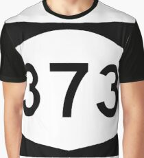 Camiseta gráfica New York State Route NY 373 | United States Highway Shield Sign