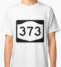 Camiseta clásica New York State Route NY 373 | United States Highway Shield Sign