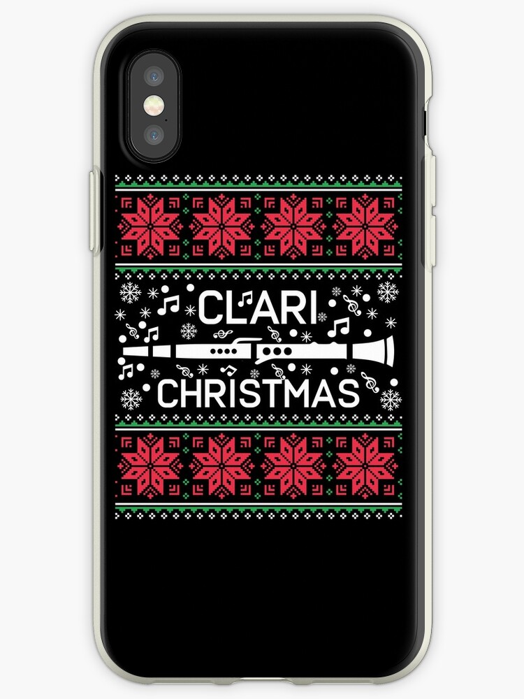 Band Ugly Christmas Sweaters.Clarinet Marching Band Ugly Christmas Sweaters Iphone Case By Mrsmitful
