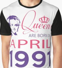 It's My Birthday 27. Made In April 1991. 1991 Gift Ideas. Graphic T-Shirt