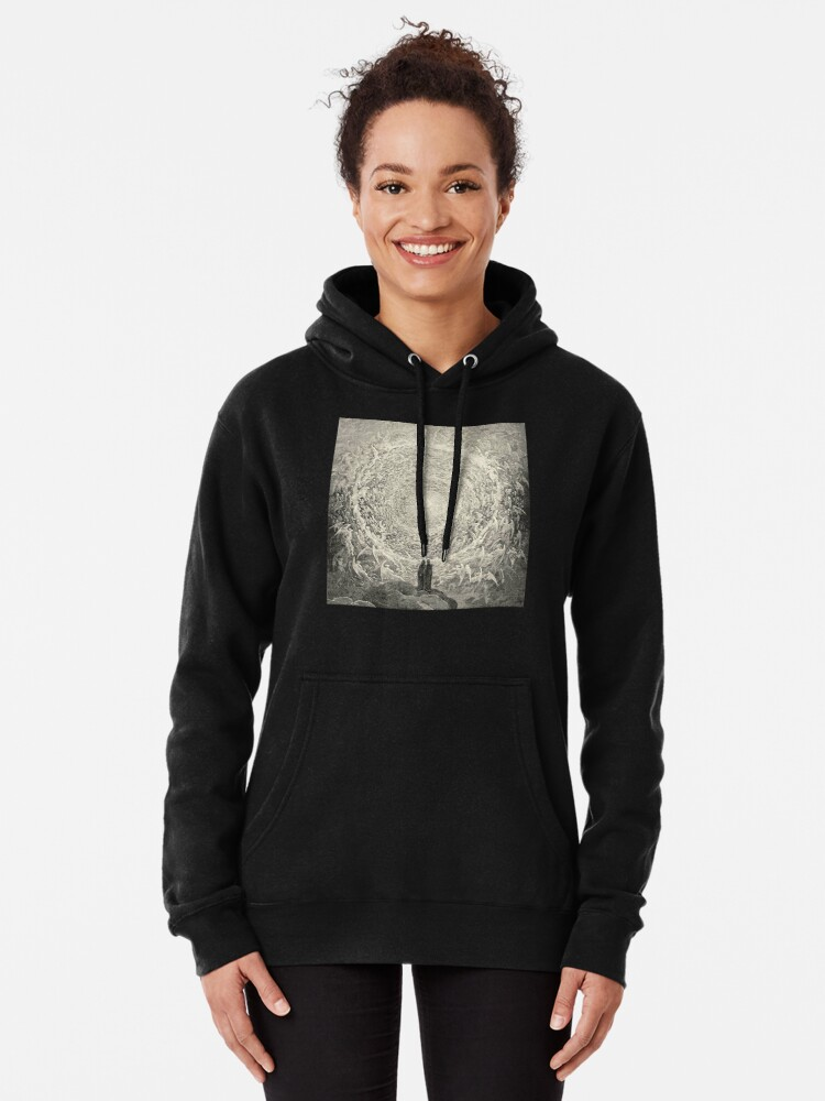 Alternate view of Dante, Heaven, Heavenly, The Divine Comedy, Gustave Doré, Highest, Heaven Pullover Hoodie