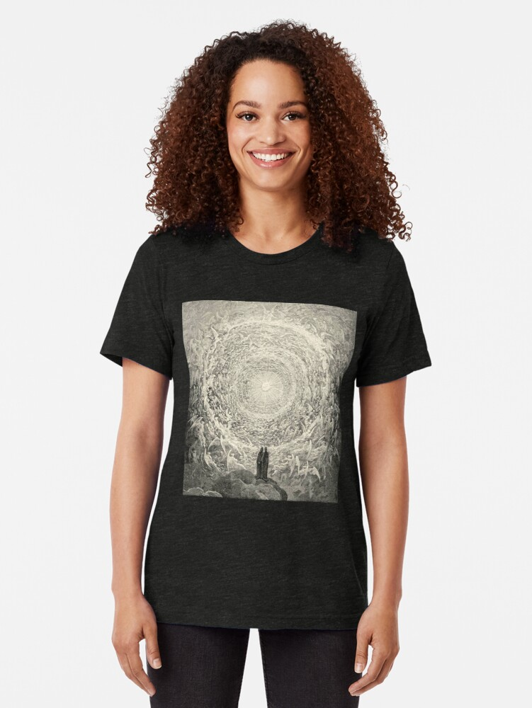 Alternate view of Dante, Heaven, Heavenly, The Divine Comedy, Gustave Doré, Highest, Heaven Tri-blend T-Shirt