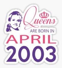 It's My Birthday 15. Made In April 2003. 2003 Gift Ideas. Sticker