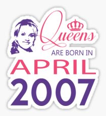 It's My Birthday 11. Made In April 2007. 2007 Gift Ideas. Sticker