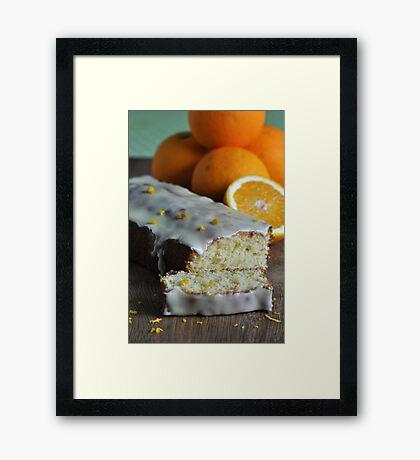 Orange Drizzle Cake Framed Print