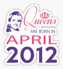 It's My Birthday 6. Made In April 2012. 2012 Gift Ideas. Sticker