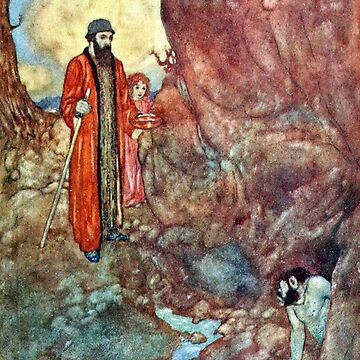 Prospero and Caliban - The Tempest - Edmund Dulac by forgottenbeauty