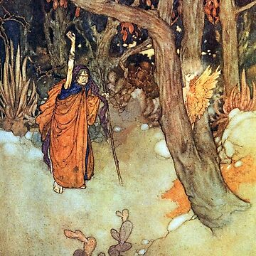 Ariel Confined in a Pine Tree - The Tempest - Edmund Dulac by forgottenbeauty