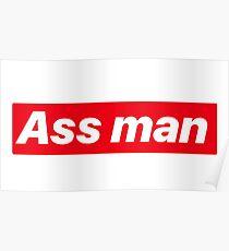 Ass man Seinfeld Kramer license Plate font Poster