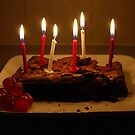 Chocolate Birthday Cake by alexandra jordan