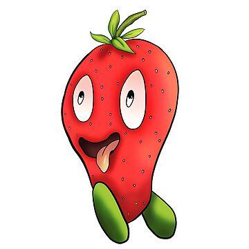 Running strawberry by Melcu