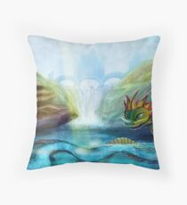 Fantasy Monster Throw Pillow